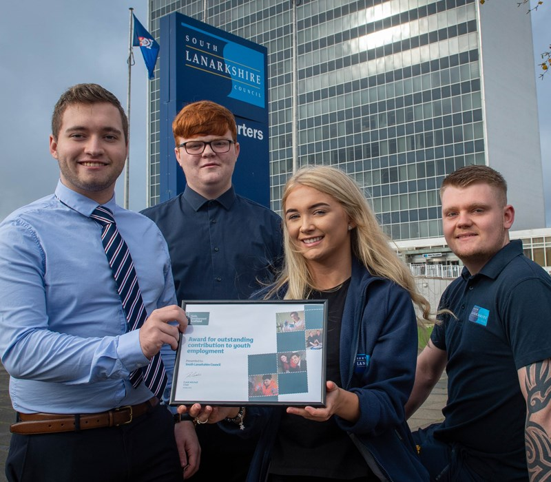 south lanarkshire council wins youth employment award skills